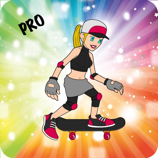 Girly Girl Skate Race Sport Adventure Story - City Trick Skateboard Street Skater Pro iOS App