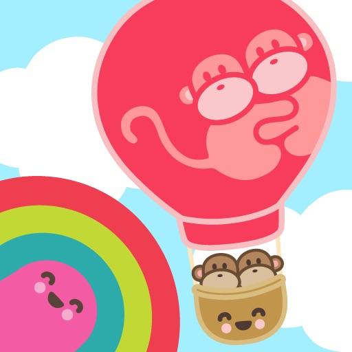 猴子和热气球的冒险Kiwi and Pear's Balloon Adventure【快节奏街机游戏】
