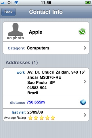 Screenshot of dPlaces (see contacts close to - next to you/me all at once on map)