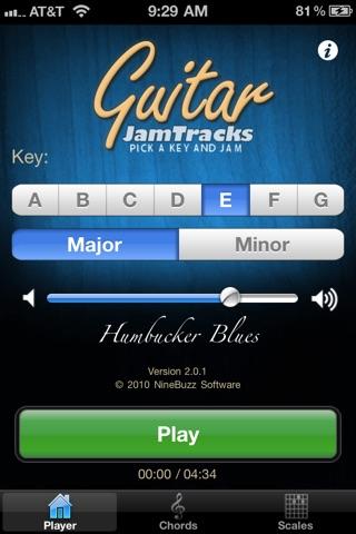 Screenshot #1 for Guitar Jam Tracks: Humbucker Blues