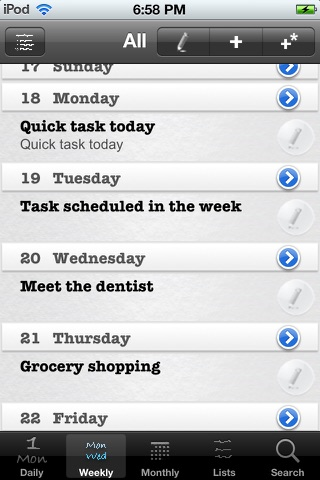 Daily Tasks (To Dos) screenshot 3