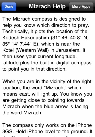 Mizrach Compass - מצפן לירושלים Screenshot 3
