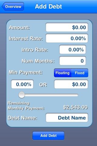 Agile Snowball: Debt Simplified screenshot 1