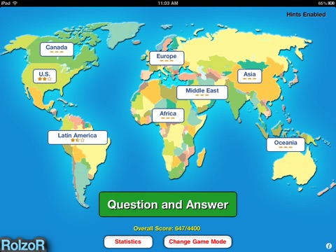 TapQuiz Maps World Edition On The App Store - Www world map