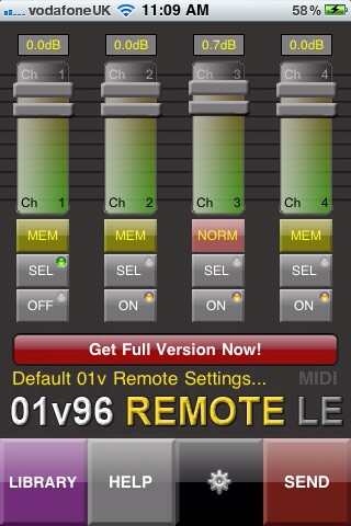 01v96 Remote LE screenshot 2