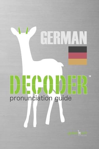 Decoder GERMAN Pronunciation Guide screenshot 1