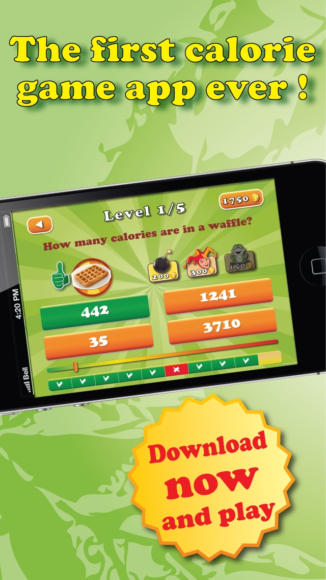 download Guess the calories - Trivia Calorie Counter , fun game app to help you lose weight fast apps 2