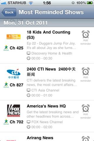 TVGuide@SG Pro screenshot 3