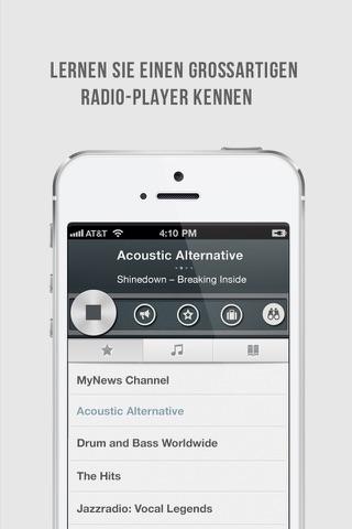 OneTuner Pro Radio Player for iPhone, iPad, iPod Touch - tunein to 65 genre stream! screenshot 2