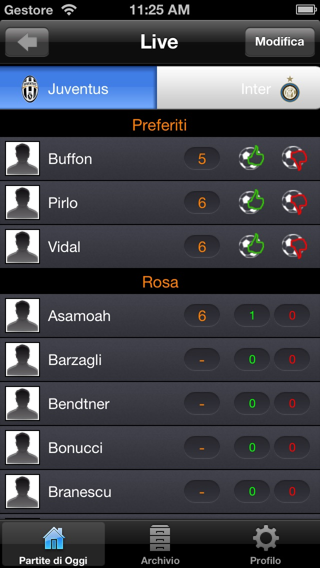 Screenshot of MyFootballVote2