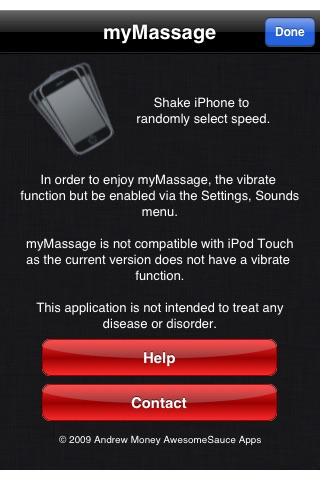 myMassage screenshot 2