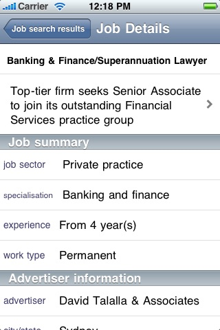 Legal Jobs Centre screenshot 2
