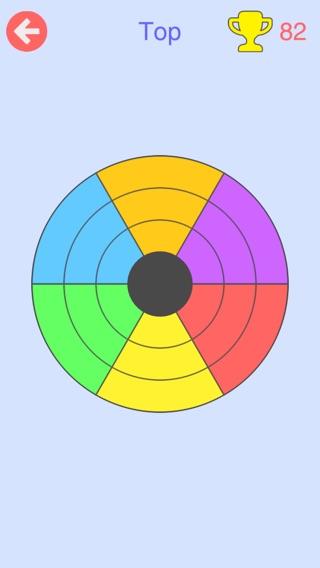 Круги - Вращайте кольца, Перемещайте сектора, Составляйте цвета Screenshot