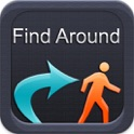 Find Around - Locate Business points to your GPS icon