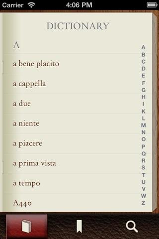 Musictionary Music Dictionary screenshot 1