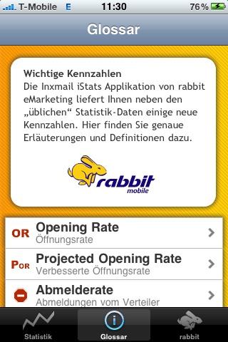 Screenshot of Inxmail iStats