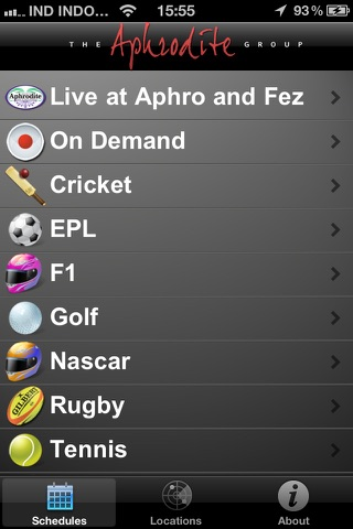 Aphrodite World Sport Schedules screenshot 2