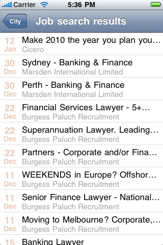Legal Jobs Centre screenshot 1