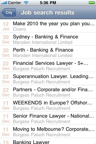 Legal Jobs Centre screenshot 1