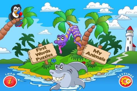 Animal Preschool Word Puzzles - FREE screenshot 2