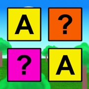 Play and Learn English letters - kids, babies and toddlers learning alphabets with flashcards memory matching game with random nice colors