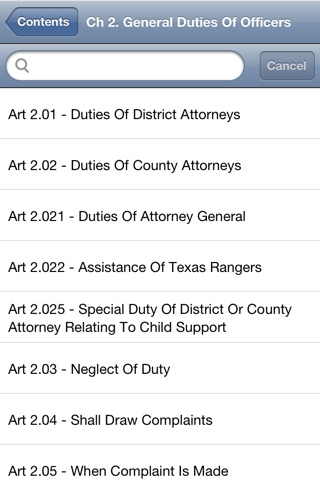 TX Code of Criminal Procedure 2016 - Texas Law screenshot 1