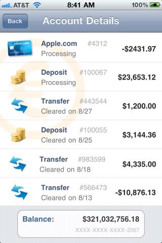 Fake Bank Account App Iphone