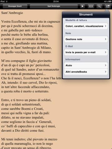 Risorgimento: Inni e poesie per iPad screenshot 4