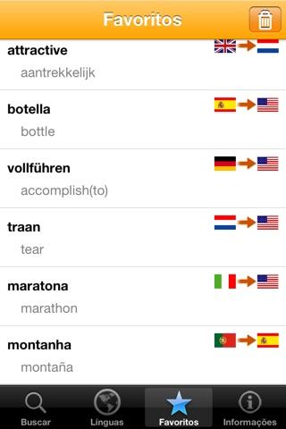 Dictionnaire 20 langues des mots usuels screenshot 4