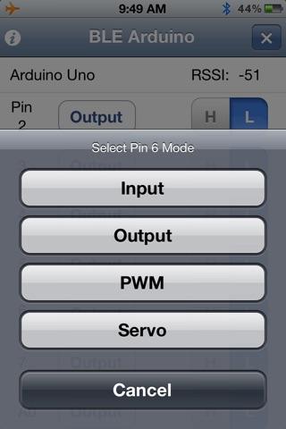 BLE Arduino screenshot 4