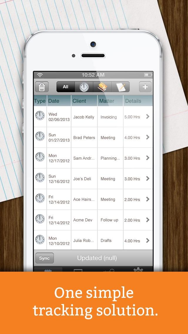 Screenshot of Time Tracker + Billing by eBillity5