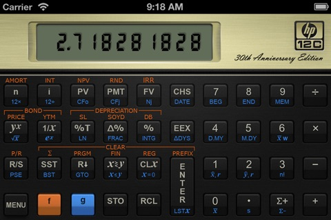 HP 12C Financial Calculator screenshot 1