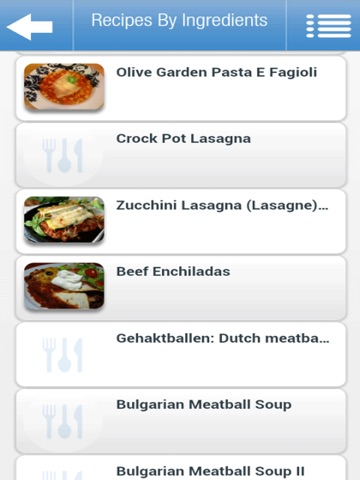 Recipes by Ingredients iPad