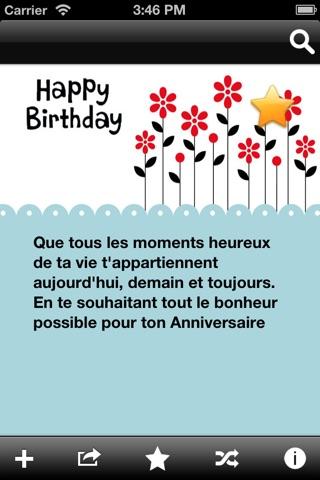 Messages et souhaits d'anniversaire screenshot 1