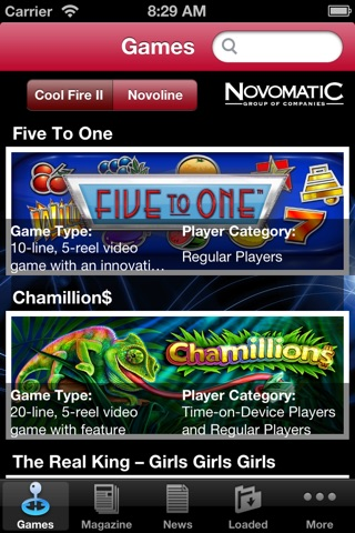 Novomatic, Games for the world screenshot 1