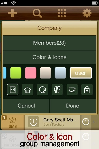 PowerContact (Contacts Group Management with Color & Icons) Screenshot 4