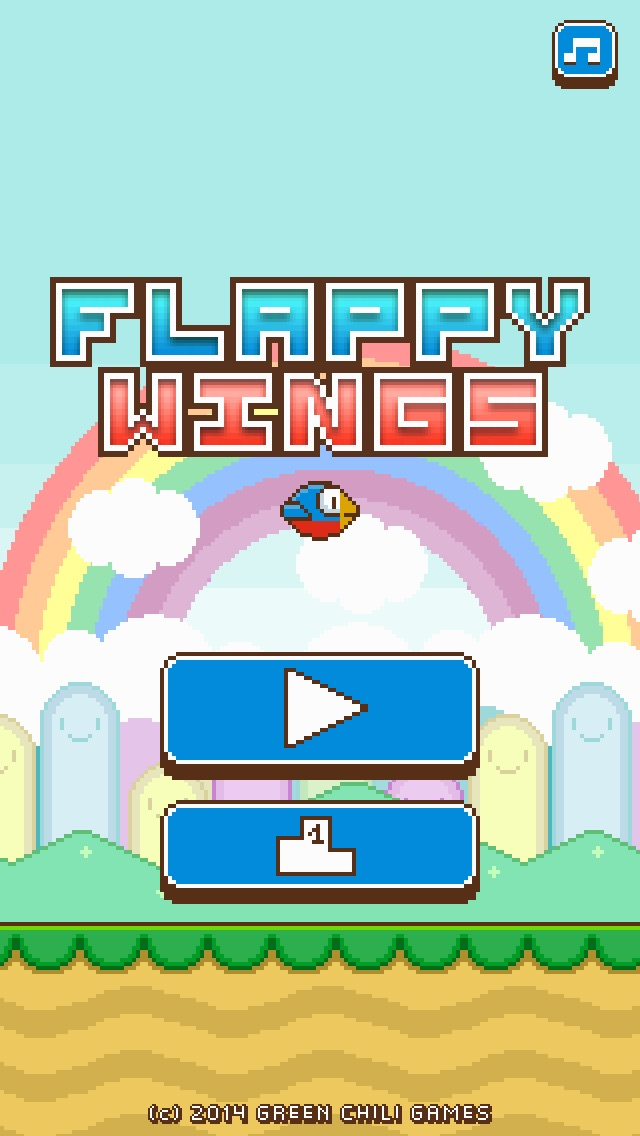 Screenshots of Flappy Wings - FREE for iPhone