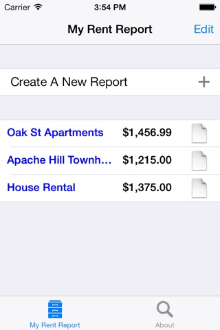 My Rent Report screenshot 2