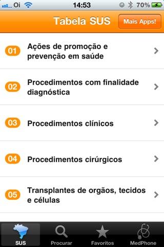 Tabela SUS Pro screenshot 2