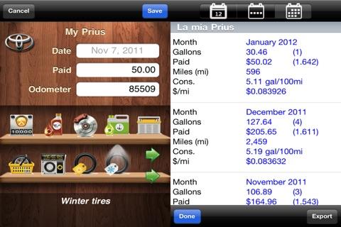 myFuelLog Lite screenshot 4