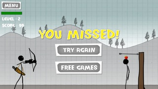 Screenshots of Stickman Apple Shooting Showdown - Free Bow and Arrow Fun Doodle Skill Game for iPhone