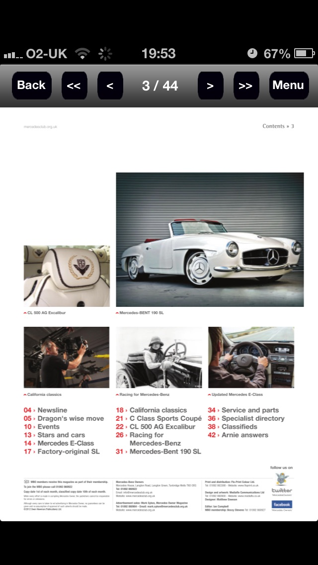 Mercedes Owner Magazine review screenshots
