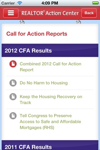 NAR Action Center screenshot 2