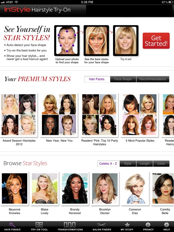 InStyle Hairstyle Try-On by Time Inc.