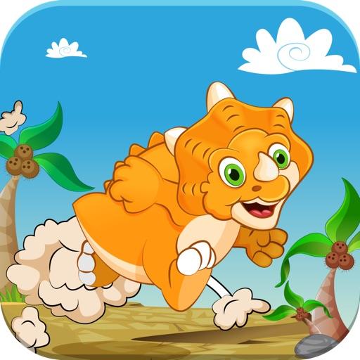Dino Baby Jump World – A Simple Fun Dinosaur Bouncing Physics Game for Boys and Girls iOS App