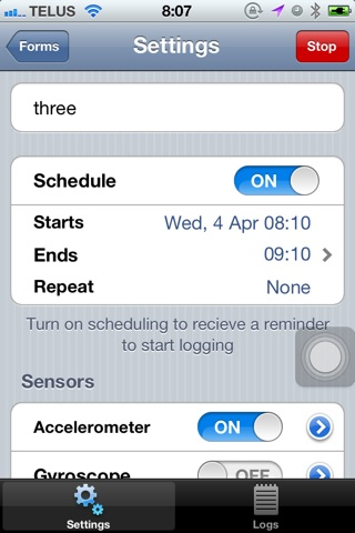 DataLogger+ screenshot 3