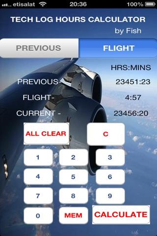 Tech Log Hours Calculator2 screenshot 1