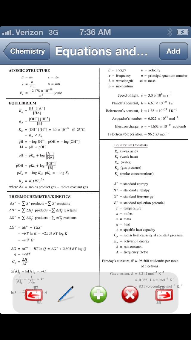 Chemistry Formulas screenshot three