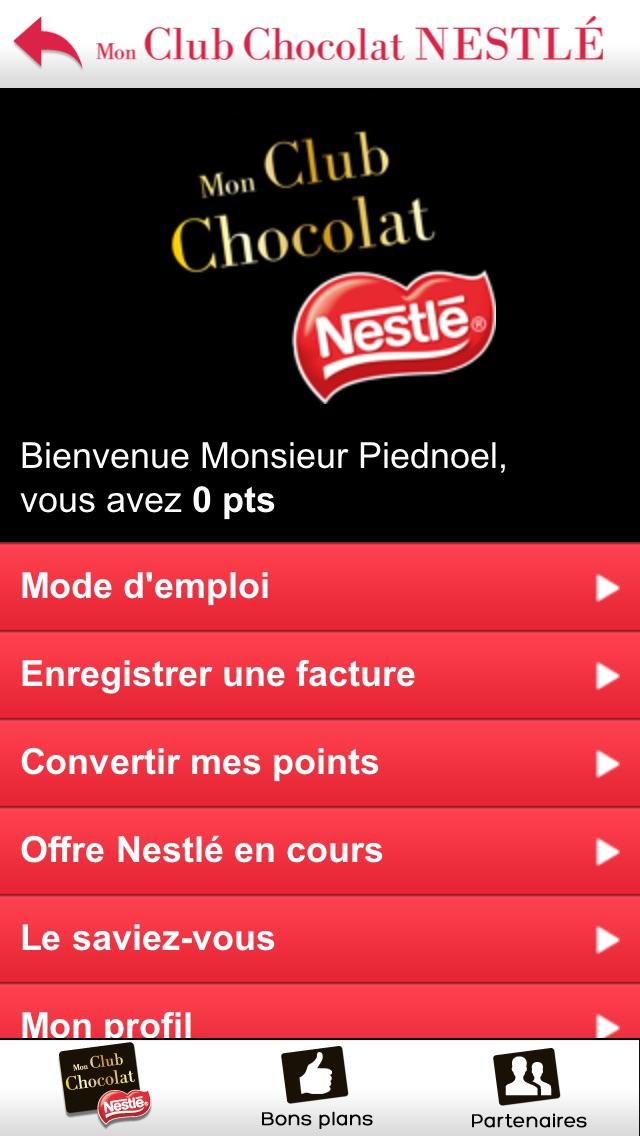 Mon Club Chocolat NESTLECapture d'écran de 2