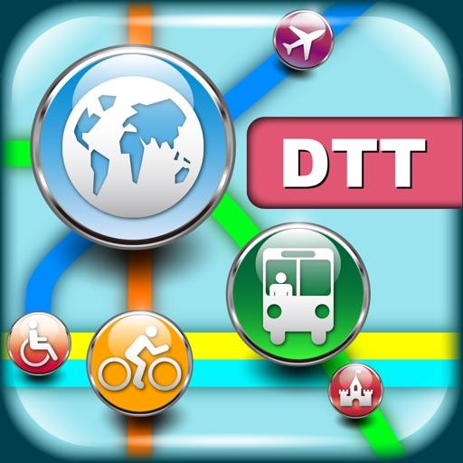 底特律(美国)地图  Detroit Maps - Download Smart Bus Maps and Tourist Guides.